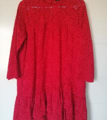 Zara crvena haljina/tunika %%%