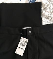 Mango lepršave straight-fit hlače  sa etiketom S