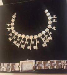 Sat+ogrlica+nausnice s cirkonima