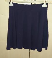 H&M tamno plava suknja