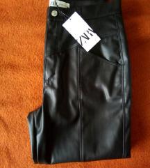 Zara kožne hlače NOVO,40