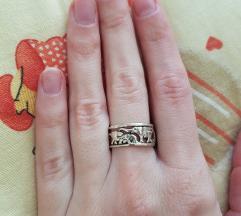Srebrni prsten slonići