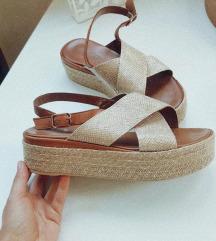 Inuovo kožne zlatne sandale