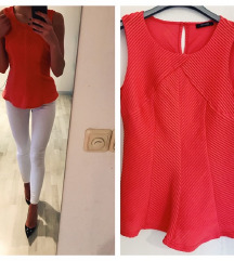 60 KN %ORSAY rozocrvena majica sa podstavom - novo