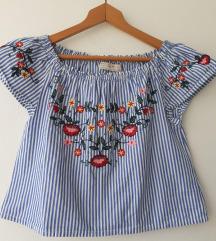 Zara bluza s izvezenim cvijećem za djevojčice