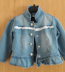 Prekrasna traper jakna vel. 80