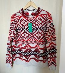 Novi H&M žakard džemper S/M