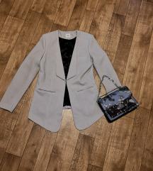 Pimkie sivo plavi sako blazer /slanje uključeno