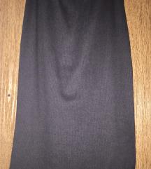 suknja pamuk siva