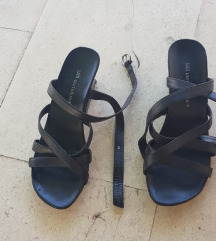 United Nude kožne crne sandale