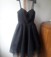 NOVA Mojito crna haljina s tilom