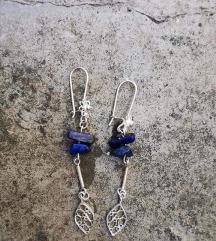 Lapis lazuli srebrne nausnice