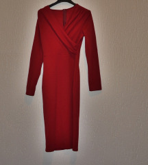 Crvena stretch haljina