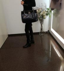 Donna Karan kožna crna velika torba-SNIŽ.