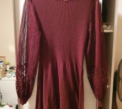 Haljina sa prozirnim rukavima-ukljucena pst 🙂
