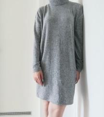 Topla siva haljina