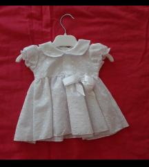 Novo_ haljina + kapica za krstenje