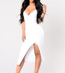 Fashion Nova bijela haljina