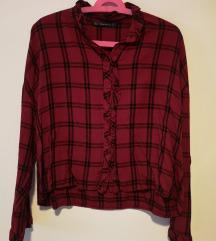 Crvena karirana Zara košulja