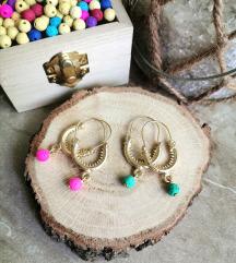 Konavoske naušnice s lava perlicama 🌈💛