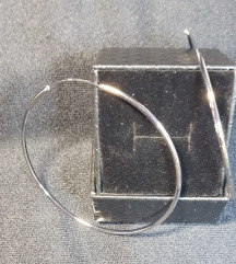 Srebrne naušnice, 925, ringovi, kutijica