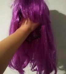 Ljubičasto roza perika vlasulja