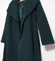 Novi Reserved zeleni kaput s pojasom