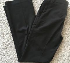 Crne široke hlače visoki struk vel 38