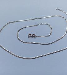 Lančić bijelo zlato 585, 55 cm
