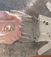 Lot 3 majice HM i Zara 134/140 (2 kom 75kn)