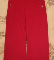 Crvene hlače visoki struk