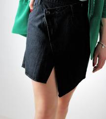 Asimetrična traper suknja