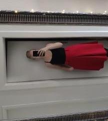 Crvena midi suknja