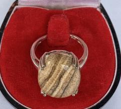 Prsten srebro 925 i prirodni ahat