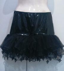 PVC crna suknja