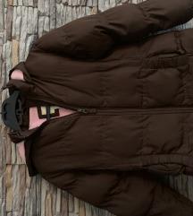 Smeđa debela jakna