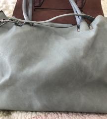 Nebeskoplava torba+gratis mala-AKCIJA