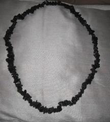 Crna duga ogrlica-kamen