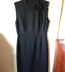 Zara crna haljina s mašnom