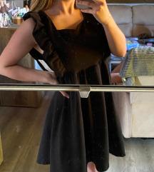 Nova crna haljina sa volanima,