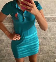 Nova! U.S Polo assn plavo/zelena haljina 🌸