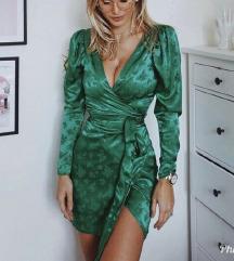 Zelena haljina na vezanje