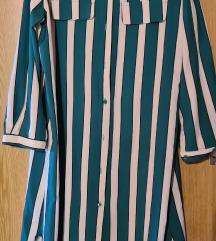 Prugasta zelena haljina