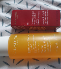 Clarins Lot Shower Concentrate i Instant Lip Oil