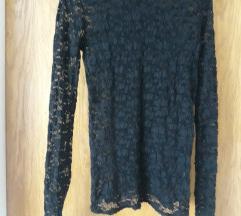 Zara cipkana crna majica