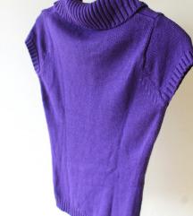 Ženski pleteni pulover S