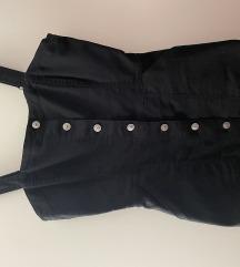 Crna traper haljina h&m