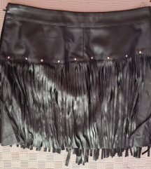 Kožna mini suknja s resama - Reserved