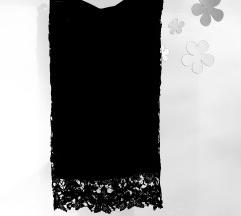 Crna čipkasta pencil suknja
