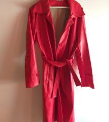 Crvena kozna jakna novo